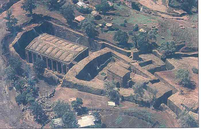 aerial view,Lalibela comp